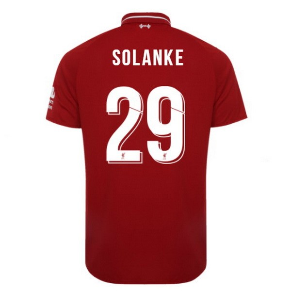 Maillot Foot Pas Cher Liverpool Domicile Solanke 2018/19 Rouge