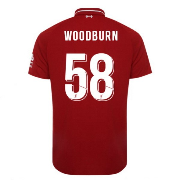 Maillot Foot Pas Cher Liverpool Domicile Woodburn 2018/19 Rouge