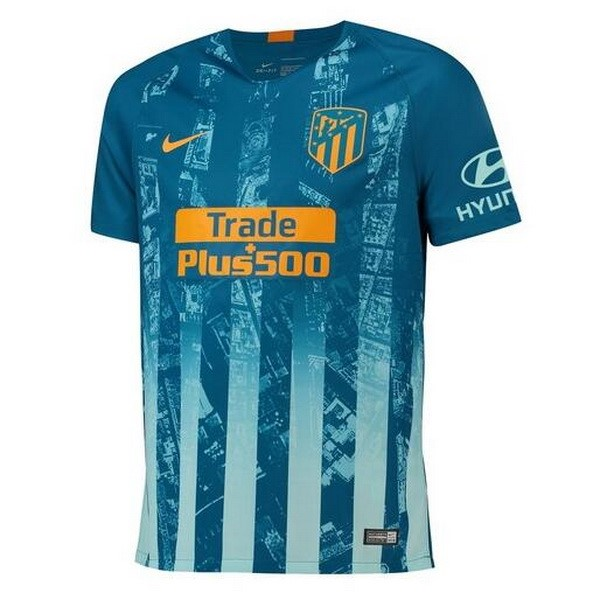 Maillot Foot Pas Cher Atletico Madrid Third 2018/19 Bleu
