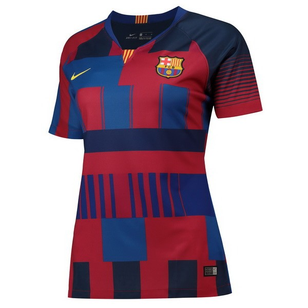 Maillot Foot Pas Cher Barcelone Femme 20th Bleu Rouge