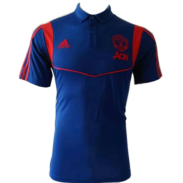 Polo Foot Pas Cher Manchester United 2019/20 Bleu Marine
