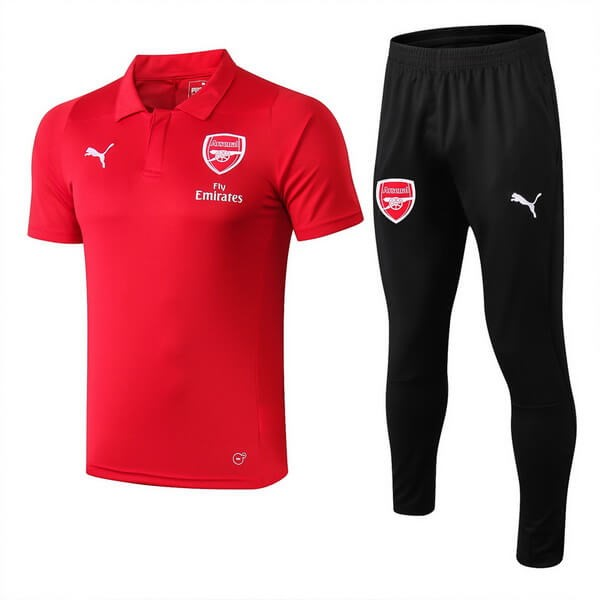 Polo Foot Pas Cher Ensemble Complet Arsenal 2018/19 Rouge