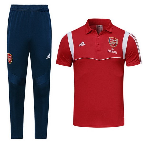 Polo Foot Pas Cher Ensemble Complet Arsenal 2019/20 Rouge