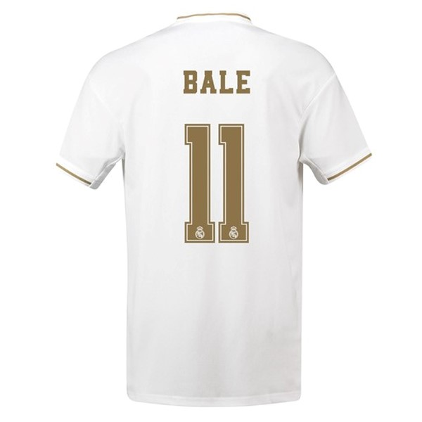 Maillot Foot Pas Cher Real Madrid NO.11 Bale Domicile 2019/20 Blanc