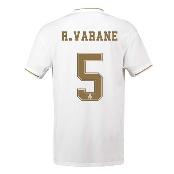 Maillot Foot Pas Cher Real Madrid NO.5 Varane Domicile 2019/20 Blanc