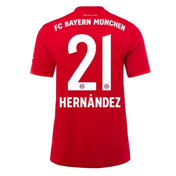 Maillot Foot Pas Cher Bayern Munich NO.21 Hernández Domicile 2019/20 Rouge