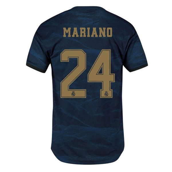 Maillot Foot Pas Cher Real Madrid NO.24 Mariano Exterieur 2019/20 Bleu