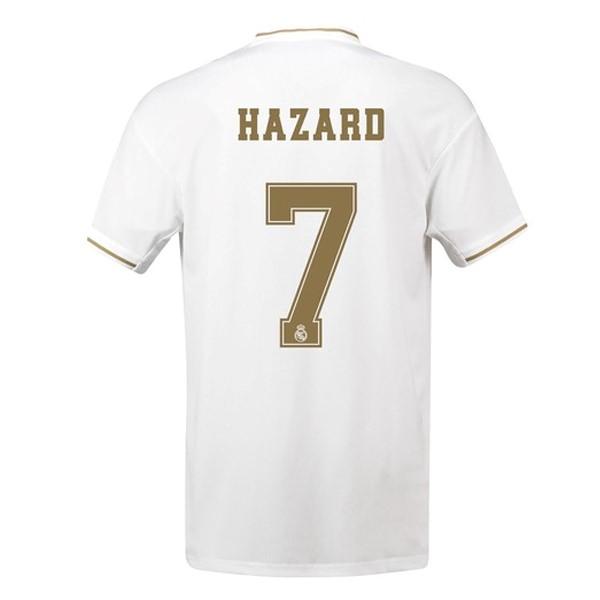 Maillot Foot Pas Cher Real Madrid NO.7 Hazard Domicile 2019/20 Blanc