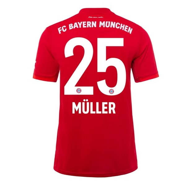 Maillot Foot Pas Cher Bayern Munich NO.25 Muller Domicile 2019/20 Rouge