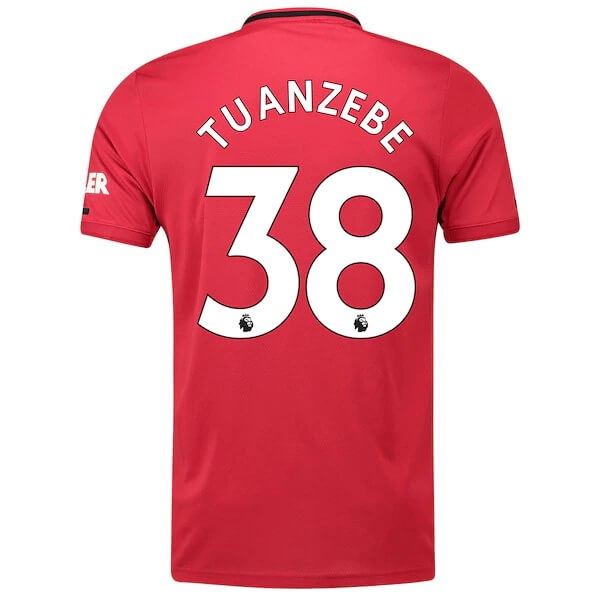 Maillot Foot Pas Cher Manchester United NO.38 Tuanzebe Domicile 2019/20 Rouge