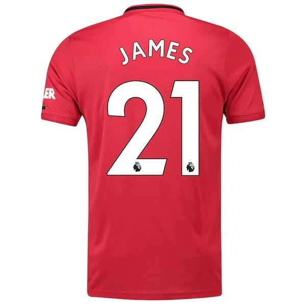 Maillot Foot Pas Cher Manchester United NO.21 James Domicile 2019/20 Rouge