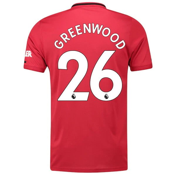 Maillot Foot Pas Cher Manchester United NO.26 Greenwood Domicile 2019/20 Rouge