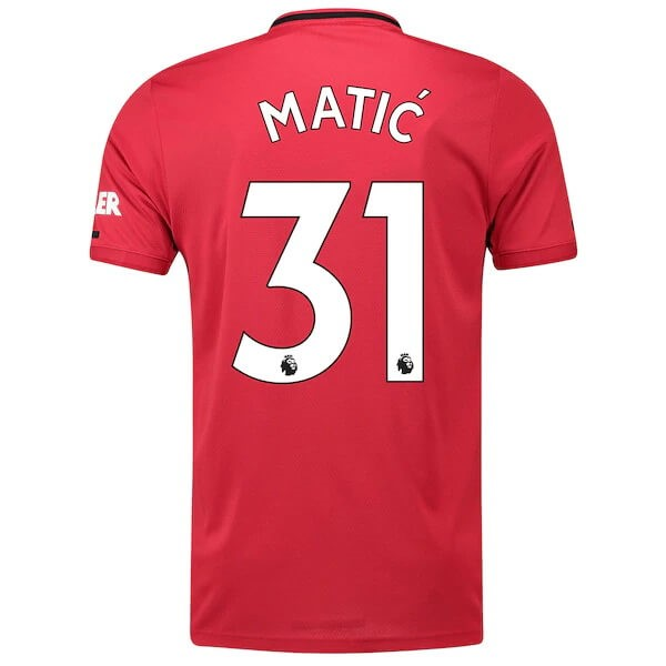 Maillot Foot Pas Cher Manchester United NO.31 Matic Domicile 2019/20 Rouge