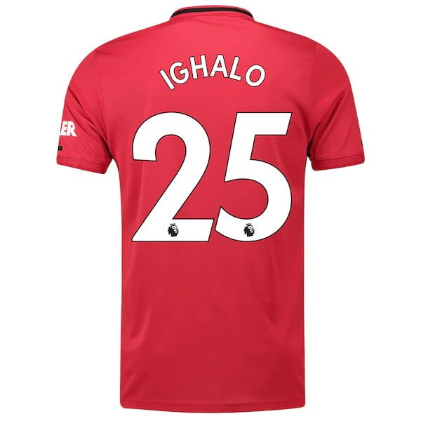 Maillot Foot Pas Cher Manchester United NO.25 Ighalo Domicile 2019/20 Rouge