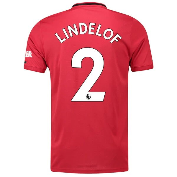 Maillot Foot Pas Cher Manchester United NO.2 Lindelof Domicile 2019/20 Rouge