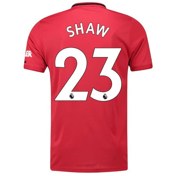 Maillot Foot Pas Cher Manchester United NO.23 Shaw Domicile 2019/20 Rouge