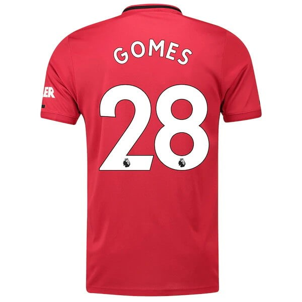 Maillot Foot Pas Cher Manchester United NO.28 Gomes Domicile 2019/20 Rouge