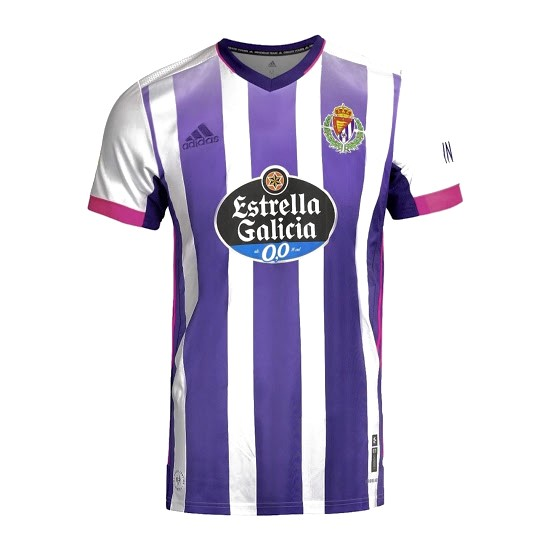 Thailande Maillot Foot Pas Cher Real Valladolid Domicile 2020/21 Blanc Purpura