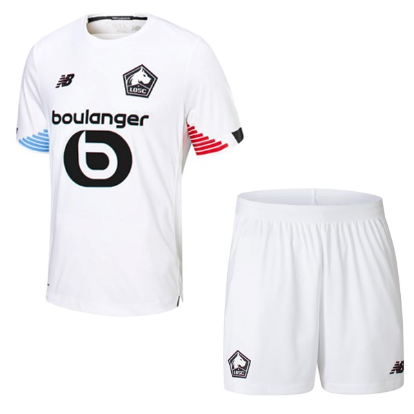 Maillot Foot Pas Cher Lille Third Enfant 2020/21 Blanc