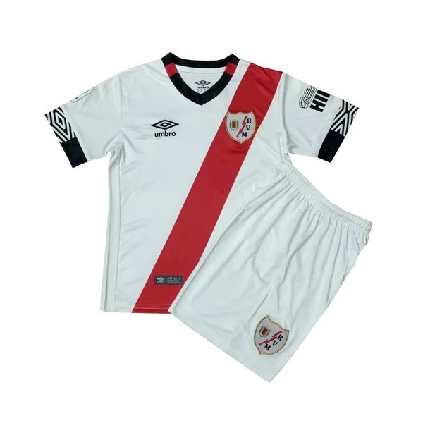 Maillot Foot Pas Cher Rayo Vallecano Domicile Enfant 2020/21 Blanc