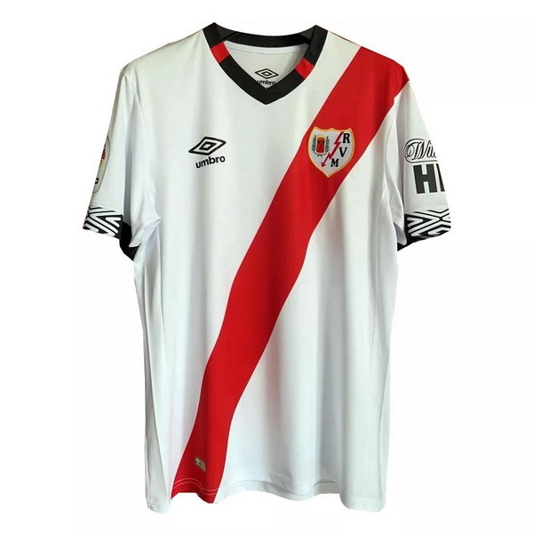 Maillot Foot Pas Cher Rayo Vallecano Domicile 2020/21 Blanc Rouge