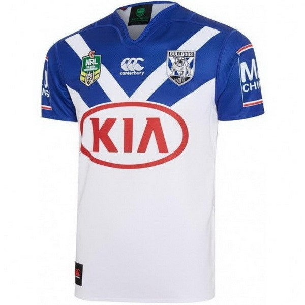 Maillot Rugby Bankstown Bulldogs Domicile 2017-18 Blanc