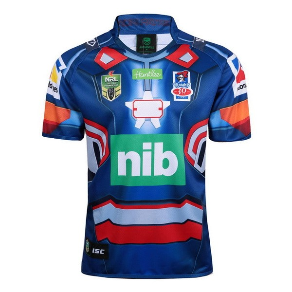 Maillot Rugby Newcastle Knights Hombre de Acero 2017-18 Bleu