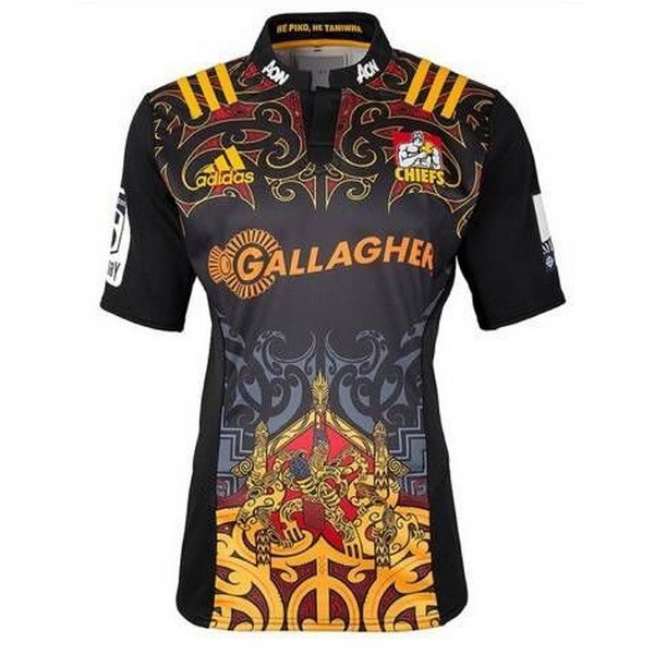 Maillot Rugby Chiefs Domicile 2017-18 Noir
