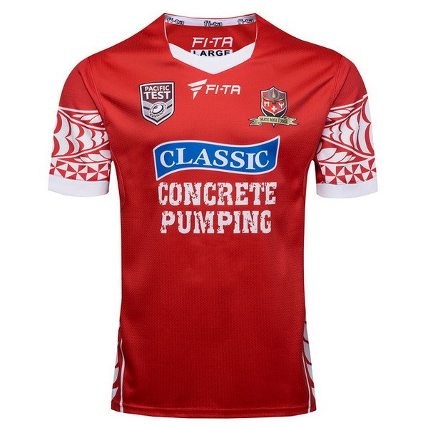 Maillot Rugby Tonga Domicile 2017-18 Rouge