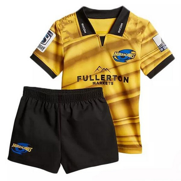 Maillot Rugby Hurricanes Niño Domicile 2018 Jaune