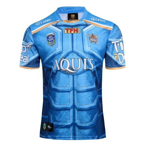 Maillot Rugby Gold Coast Titans Classic Auckland 9's 2017-18 Bleu