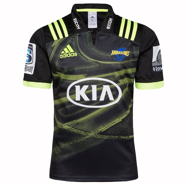 Maillot Rugby Hurricanes Exterieur 2018 Noir